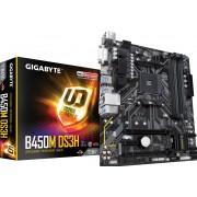 Gigabyte B450M DS3H - Moederbord - micro ATX - Socket AM4 - AMD B450 - USB 3.1 Gen 1 - Gigabit LAN