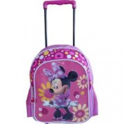 Ghiozdan cu Troler Minnie Mouse pentru gradinita - Flori