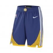 Short de NBA Golden State Warriors Nike Icon Edition Authentic pour Homme - Bleu