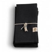 Servett, CLASSIC - Black, 12 st