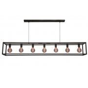 Hanglamp Esteso Mat Zwart 160cm