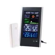 Funk-Wetterstation mit Aussensensor, Wecker & USB-Ladeport (2 Ampere) | Wetterstation