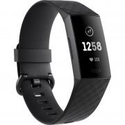 Bratara fitness Fitbit Charge 3, HR, IP67, NFC, Silicon, Graphite Aluminum, Curea Black