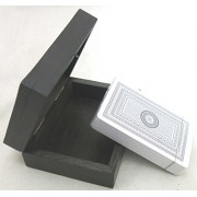 Ages Behind Card Box Playing Cards Toy Handcrafted 10.5 x 8 x 4 cm Playing Cards Box