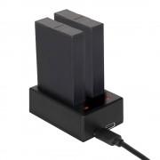 Sonstige Marke 2-fach USB Akku Ladegerät für GoPro Fusion - Schwarz