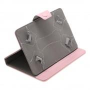 Husa Tableta 7 Inch Model X , Roz , Tip Mapa , Prindere 4 Cleme