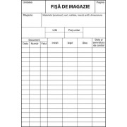 Fise de magazie fila carton A5, FV, 100 file/set