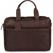 Burkely Laptoptas Burkely Jesse Vintage Shoulderbag Dark Brown 13 inch