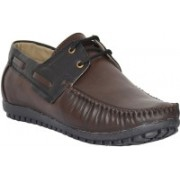 Mens Ego Genuine Leather Boat Shoes For Men(Brown)