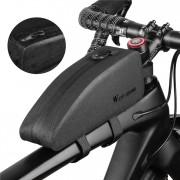 WEST BIKING Bike Frame Bag Waterproof Top Tube Bag Bicycle Front Phone Bag - Size: M