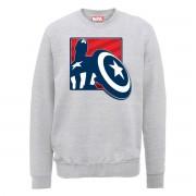 Marvel Sudadera Marvel Los Vengadores Capitán América Contorno - Hombre - Gris - M - Gris