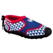 Waimea Blauw met rode kinder waterschoenen