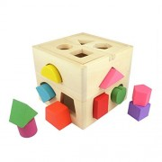Shape Sorting Toys TOYMYTOY Wooden Shapes Sorter Early Development Toys for Toddlers
