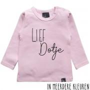 Babystyling Lief dotje longsleeve shirt 74 Roze/Zwart
