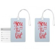 100yellow Luggage Tags- Quote Printed Premium Quality PVC Travel Tag with Silicon Strap- Ideal For Gift-Pack Of 2 Luggage Tag(Multicolor)