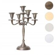 Kerzenleuchter HWC-D81, Kerzenständer Leuchter Kerzenhalter, 5-armig aus Aluminium 31cm massiv 0,6kg ~ Variantenangebot