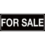 Zwarte For sale autosticker - For sale stikker - te koop plakken - 9 x 23 cm - aut144