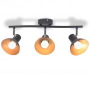 Sonata Спот лампа за 3 крушки, E27, черно и златисто