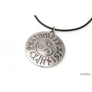 Jubileo.pl WISIOREK MEDALION RUNICZNY kolor stare srebro amulety