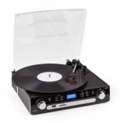 Inovalley Retro-05 Equipo de sonido Tocadiscos USB SD AUX FM/MW MC Casete (INO-RETRO 05)