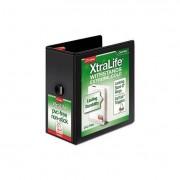 "Xtralife Clearvue Non-Stick Locking Slant-D Binder, 5"" Cap, 11 X 8 1/2, Black"
