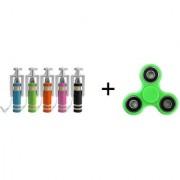 combo 2 Mini Mono Selfie Stick Get 1 Fidget Handspinner Free (Multi Color) Combo Pack