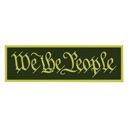 Squadron Products We The People' Olive Hat Patch Clothing