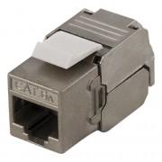 """Deltaco FTP Cat6a Keystone kontaktdon, """"Tool-free"""""""