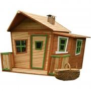 AXI Lisa Playhouse: Maisonnette pour enfants, fenêtres intégrées et bois