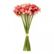 Buchet de flori artificiale F419-272 Pami Flower 22 cm Rosu
