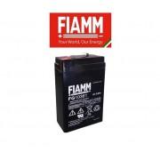 FIAMM Batteria Al Piombo 6v 3,8 Ah Tampone Accumulatore Ricaricabile Ciclica Faston 4,8 Mm Alta Affidabilita