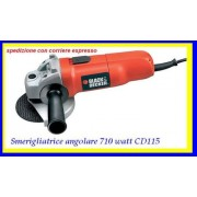 black & decker smerigliatrice angolare 710w disco 115mm bloccadisco cd115 236768 smerigliare levigare lucidare