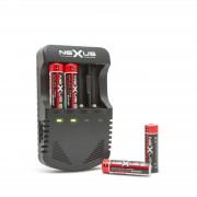 Nexus LED kijelzős akkumulátor töltő 4 × AA / AAA