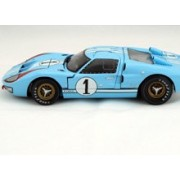 Shelby Collectibles 1966 Ford GT-40 MK II #1, Gulf Blue w/ White Stripes - SC411 1/18 Scale Diecast Model Toy Car