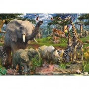 PUZZLE ANIMALE IN SALBATICIE, 18000 PIESE