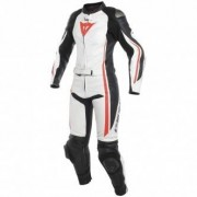 DAINESE Suit DAINESE Assen Lady White / Black / Red Fluo