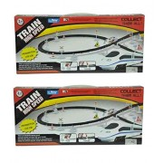 High Speed Metro with Flyover Track Train (pack of 2 )