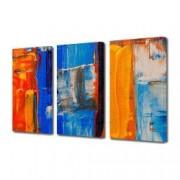 Tablou Canvas Premium Abstract Multicolor Culori Puternice Decoratiuni Moderne pentru Casa 3 x 70 x 100 cm