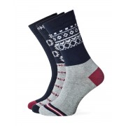 TIMBERLAND Patterned Crew Socks 3-Pack