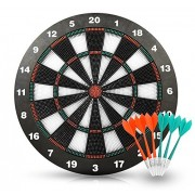 Safety Dart Set with 6 Soft Tip Darts Game Room Board Games by Joview-16.5 Inch Stipple Dart Board Play on the Table Leisure Sports Equipment for Kids or Adult