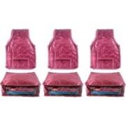 Ajabh High Qulity NEW COMBO OF 3PCS HIGHT SAREE 3p blou COVER GIFT ORGANIZER TRAVLING BAG KEEP SAREE\BLOUSE\SALWAR\JEANS\TOP ETC.(Maroon)