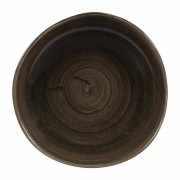 Churchill Super Vitrified Churchill Stonecast Patina Round Trace Plates Iron Black 264mm