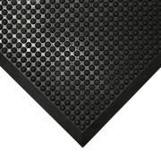 Černá gumová protiúnavová průmyslová rohož - 120 x 90 x 1,5 cm (80000686) FLOMAT