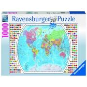 Ravensburger puzzle harta politica a lumii, 1000 piese