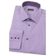 Kostkovaná košile SLIM lila Avantgard 109-3856-42/182