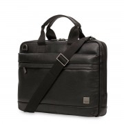 Knomo Foster Leather Laptop Briefcase Black 14 inch