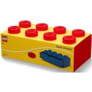 Cutie de masă 8 LEGO cu sertar - roșu