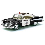 Kinsmart 1:36 Scale Die-Cast 1957 Chevrolet Bel Air (Police) with Openable Doors & Pull Back Action