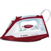 Парна ютия Bosch, 2400 W, Ударна пара 150 г/мин. Ceranium Glissee покритие на плочата, Бял/Червен, TDA3024010