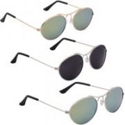 Phenomenal Oval Sunglasses(Green, Black)